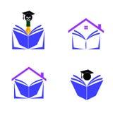 Boklogo royaltyfri illustrationer