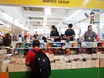 bokmarknad i Bangkok 2015 Arkivbild
