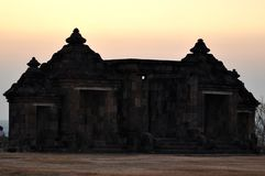 Boko temple an ancient building made of black natural stone royalty free stock photo