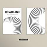 Bokomslag med abstrakt begrepplinjer och piruett royaltyfri illustrationer