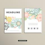 Bokomslag med blommor Vektortappningdesign vektor illustrationer