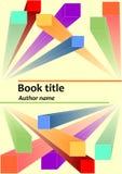 Bokomslagmall med abstrakta prismatiska färgrika beståndsdelar 3d Former för beskrivande geometri i utrymme Användbart som brosch vektor illustrationer