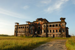 Bokor National Park. Casino - Ruined City in Cambodia stock images