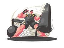 Bokserów pociągi w gym royalty ilustracja