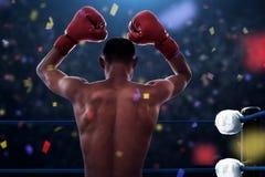 Bokser atlety wygrana dopasowanie zdjęcia royalty free