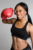 bokser czarny kobieta Obraz Royalty Free