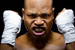 Bokser lub MMA wojownik Fotografia Stock