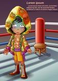 Bokser na boks scenie ilustracji