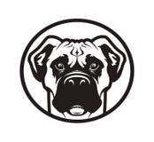 Bokser of van de kuilstier hond hoofdpictogram Royalty-vrije Stock Afbeeldingen