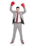 boksera biznesmen obraz stock