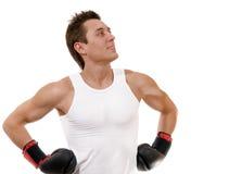 boksera boksu walki rękawiczki dumne Zdjęcia Royalty Free