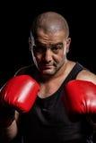 Boksera spełniania bokserska postawa fotografia royalty free