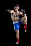 Boksera spełniania bokserska postawa fotografia stock