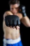 Boksera spełniania bokserska postawa obraz royalty free