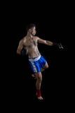 Boksera spełniania bokserska postawa zdjęcie stock