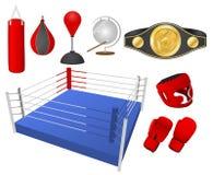 bokserscy przedmioty Obrazy Royalty Free