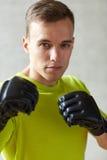 bokserscy rękawiczek mężczyzna potomstwa Zdjęcie Stock