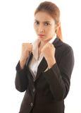 Bokserska biznesowa kobieta obraz stock