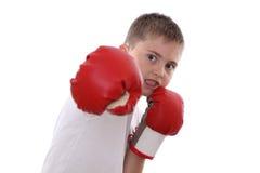 bokserska chłopiec Obrazy Royalty Free