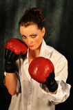 bokserska dziewczyna Zdjęcia Royalty Free