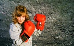 bokserska dziewczyna Fotografia Stock