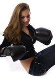 bokserska kobieta Zdjęcie Royalty Free