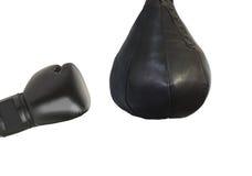 Bokserska rękawiczka i uderza pięścią torba Zdjęcie Stock