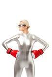 bokserska rękawiczek czerwieni kobieta Obrazy Royalty Free