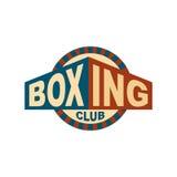 Bokserski świetlicowy emblemat Logo dla gym Sporta znak royalty ilustracja