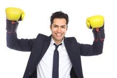 bokserski biznesmena rękawiczek target1813_1_ Fotografia Royalty Free