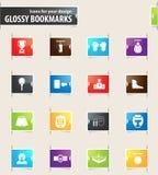Bokserski ikona set Fotografia Stock