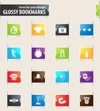 Bokserski ikona set Obrazy Royalty Free