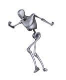 Bokserski metalu mężczyzna Zdjęcie Royalty Free