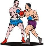 bokserski nokautowy poncz Obrazy Stock