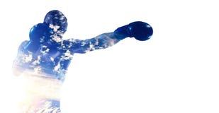 Bokserski sporta pojęcie Mieszani środki Obraz Stock