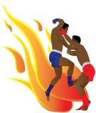 bokserski tajlandzki ilustracji