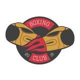 Bokserski wektorowy logo, emblemat, etykietka Fotografia Stock