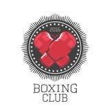 Bokserski wektorowy logo, emblemat, etykietka Obraz Royalty Free