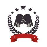 bokserskich rękawiczek emblemata ikona Obrazy Royalty Free