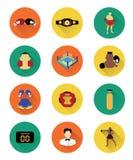 Bokserskie ikony ustawiać ilustracji