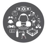 Bokserskie ikony ustawiać royalty ilustracja