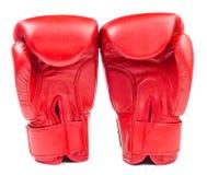 Bokserskie rękawiczki odizolowywać na białym tle zdjęcia stock