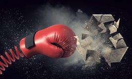Bokserskiej rękawiczki niespodzianka Mieszani środki zdjęcie royalty free