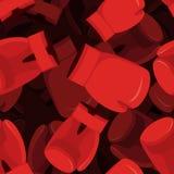 Bokserskiej rękawiczki 3d tło Akcesoryjnego boksera bezszwowy wzór Obraz Royalty Free