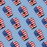 Bokshandschoen met vlag van het naadloze patroon van Amerika Sportieve acces vector illustratie