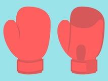 Bokshandschoen op blauw Stock Illustratie