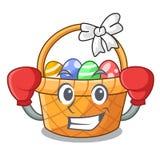 Boksować Easter koszykową piłkę w kreskówka kształcie ilustracji