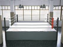 Boksring in een gymnastiekbinnenland het 3d teruggeven Stock Afbeeldingen