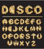 bokstäver för bolldiskoguld Royaltyfri Foto