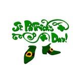 Bokstäver för dag för St Patrick ` s blom- Arkivfoto